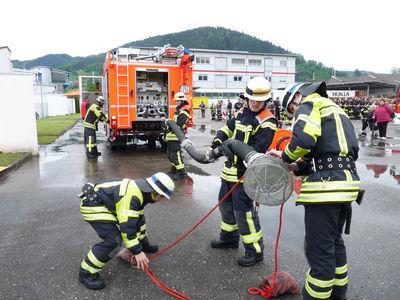 Feuerwehrangehörige der Feuerwehren Gengenbach und Berghaupten bei den Leistungsübungen 2016 in Haslach. Foto: LRA